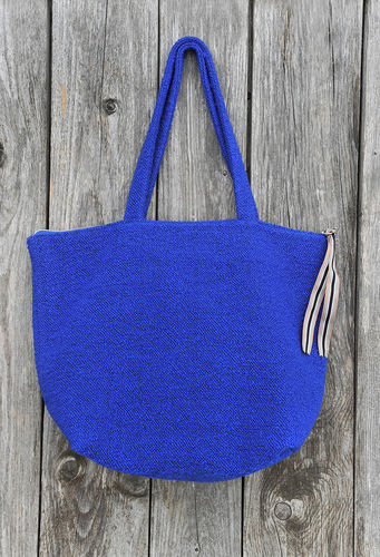Handgefertigte Stoff-Bag - made in Bavaria - ive klein Blau - Atelier No. 19